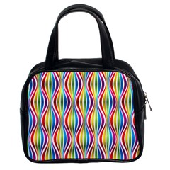 Rainbow Waves Classic Handbag (two Sides) by Colorfulplayground