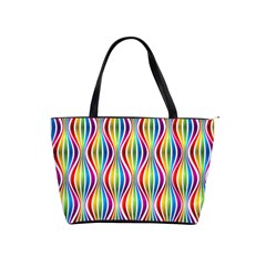 Rainbow Waves Large Shoulder Bag by Colorfulplayground