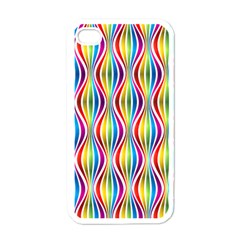Rainbow Waves Apple Iphone 4 Case (white) by Colorfulplayground