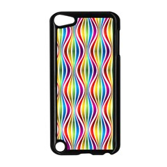 Rainbow Waves Apple Ipod Touch 5 Case (black) by Colorfulplayground
