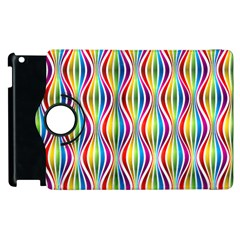 Rainbow Waves Apple Ipad 2 Flip 360 Case by Colorfulplayground