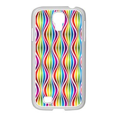 Rainbow Waves Samsung Galaxy S4 I9500/ I9505 Case (white)