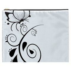 Floral Butterfly Design Cosmetic Bag (xxxl) by OneStopGiftShop