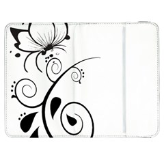 Floral Butterfly Design Samsung Galaxy Tab 7  P1000 Flip Case by OneStopGiftShop