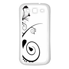 Floral Butterfly Design Samsung Galaxy S3 Back Case (white)