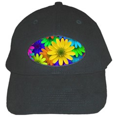Gerbera Daisies Black Baseball Cap by StuffOrSomething