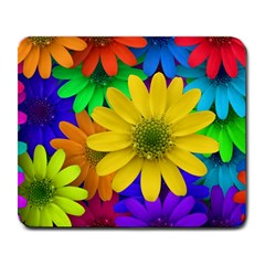 Gerbera Daisies Large Mouse Pad (rectangle) by StuffOrSomething