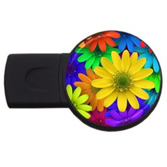 Gerbera Daisies 4gb Usb Flash Drive (round) by StuffOrSomething