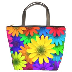 Gerbera Daisies Bucket Handbag by StuffOrSomething