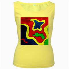 Abstract Women s Tank Top (yellow) by Siebenhuehner