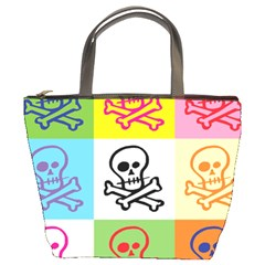 Skull Bucket Handbag by Siebenhuehner