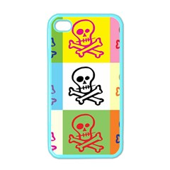Skull Apple Iphone 4 Case (color) by Siebenhuehner