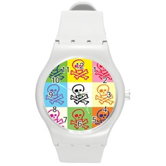Skull Plastic Sport Watch (medium) by Siebenhuehner