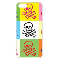 Skull Apple Iphone 5 Seamless Case (white) by Siebenhuehner