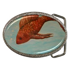 Gold Fish Belt Buckle (oval)