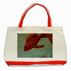 Gold Fish Classic Tote Bag (red) by rokinronda