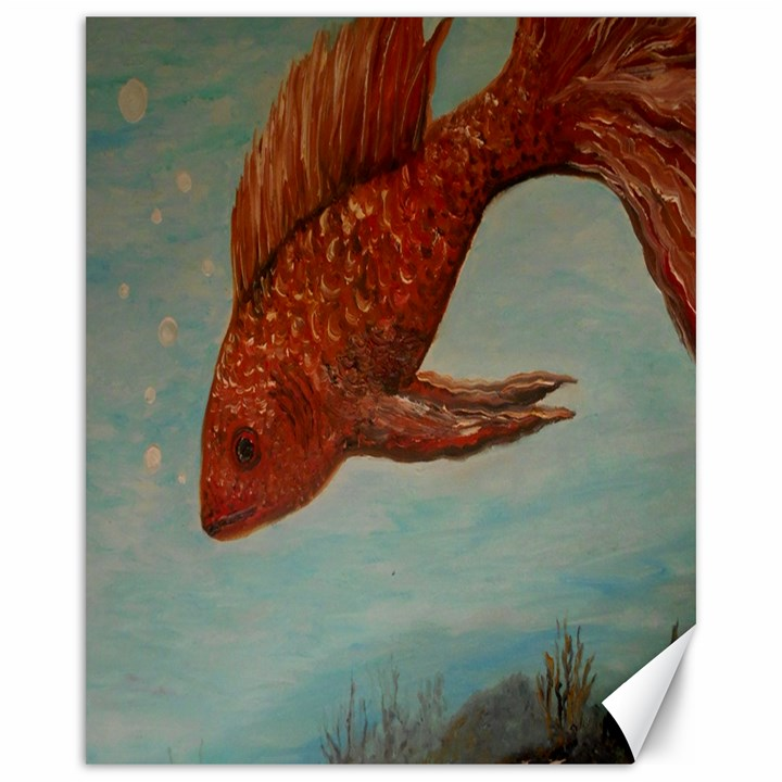 Gold Fish Canvas 16  x 20  (Unframed)