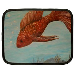 Gold Fish Netbook Sleeve (xxl) by rokinronda