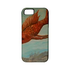 Gold Fish Apple Iphone 5 Classic Hardshell Case (pc+silicone) by rokinronda