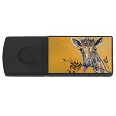 Giraffe Treat 4gb Usb Flash Drive (rectangle) by rokinronda