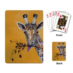 Giraffe Treat Playing Cards Single Design by rokinronda