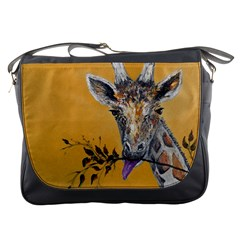 Giraffe Treat Messenger Bag by rokinronda