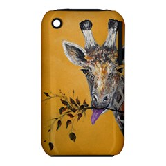 Giraffe Treat Apple Iphone 3g/3gs Hardshell Case (pc+silicone) by rokinronda