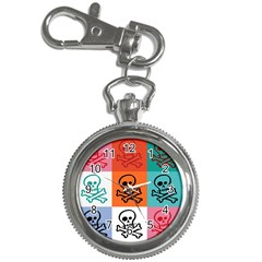 Skull Key Chain Watch by Siebenhuehner