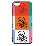 Skull Apple iPhone 5 Seamless Case (Black) Front