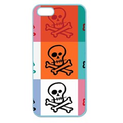 Skull Apple Seamless Iphone 5 Case (color) by Siebenhuehner