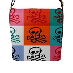 Skull Flap Closure Messenger Bag (large) by Siebenhuehner