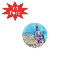 Castle For A Princess 1  Mini Button (100 Pack) by rokinronda