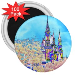 Castle For A Princess 3  Button Magnet (100 Pack) by rokinronda