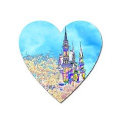 Castle For A Princess Magnet (heart) by rokinronda