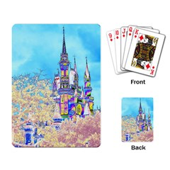 Castle For A Princess Playing Cards Single Design by rokinronda