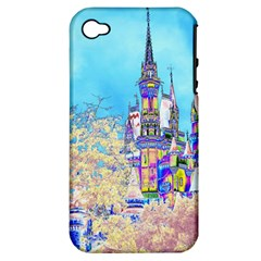 Castle For A Princess Apple Iphone 4/4s Hardshell Case (pc+silicone) by rokinronda