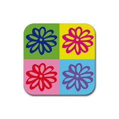 Flower Drink Coasters 4 Pack (square) by Siebenhuehner