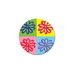 Flower Golf Ball Marker 10 Pack by Siebenhuehner