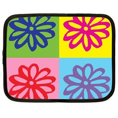 Flower Netbook Sleeve (xl) by Siebenhuehner