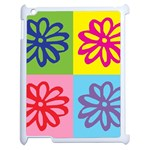Flower Apple iPad 2 Case (White) Front