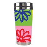 Flower Stainless Steel Travel Tumbler Left