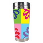 Flower Stainless Steel Travel Tumbler Center