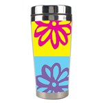Flower Stainless Steel Travel Tumbler Right