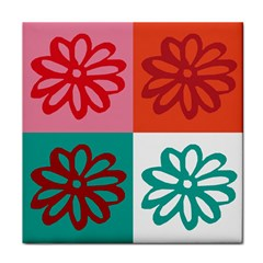 Flower Ceramic Tile by Siebenhuehner