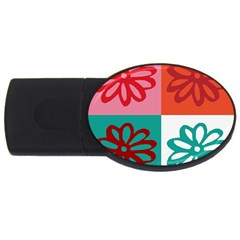 Flower 2gb Usb Flash Drive (oval) by Siebenhuehner