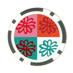 Flower Poker Chip (10 Pack) by Siebenhuehner