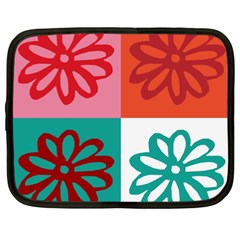 Flower Netbook Sleeve (xxl) by Siebenhuehner