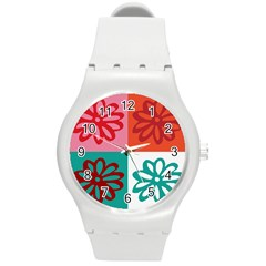 Flower Plastic Sport Watch (medium) by Siebenhuehner
