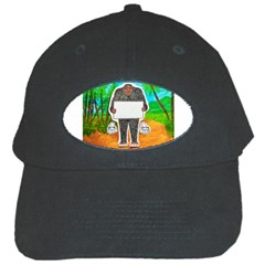 Yowie H,text In Aussie Outback, Black Baseball Cap by creationtruth