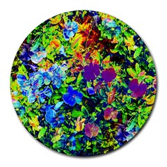 The Neon Garden 8  Mouse Pad (round) by rokinronda